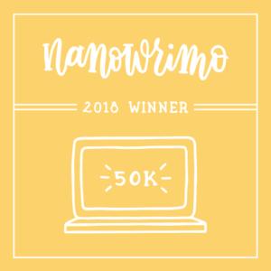 NaNoWriMo Win 2018